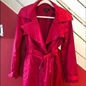 Red Satin, bebe Trench Coat